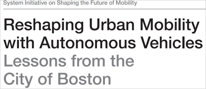El estudio editado por el Foro Económico Mundial, la consultora BCG y la propia ciudad de Boston, se basa en las conclusiones extraídas de un proyecto de simulación sobre los efectos del coche sin conductor en esta ciudad estadounidense.