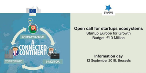 La Comisión Europea ofrece una jornada informativa para interesados en la convocatoria 'Startup Europe for Growth'