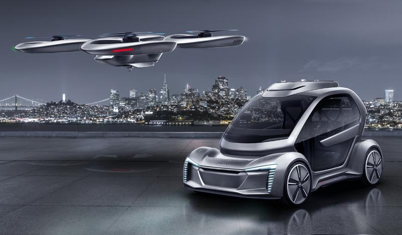 Pop.Up Next y ofrece un concepto de vehículo totalmente eléctrico y autónomo para una movilidad tanto por tierra como por el aire