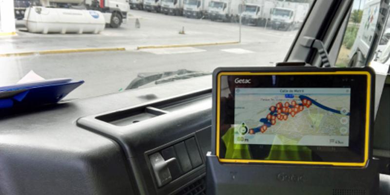 Figura 1. Imagen del navegador a bordo con el sistema de optimización de rutas.