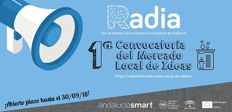 Cartel anunciador de la primera Covocatoria del Mercado Local de Ideas.