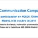 Madrid acogerá una jornada informativa sobre las novedades para participar en convocatorias de Horizonte 2020