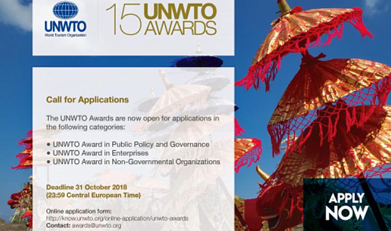 La convocatoria de premios de la OMT está abierta hasta el 31 de octubre.