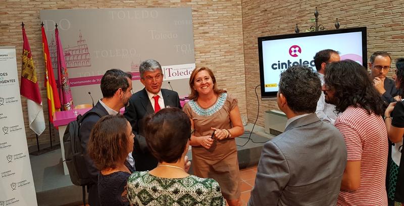 David Cierco, director general de Red.es, y vicealcalde de Toledo, José Pablo Sabrido Fernández, durante la presentación del proyecto.