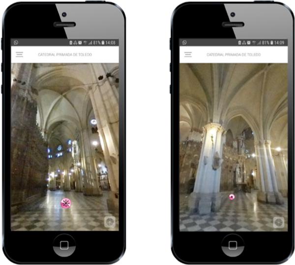 A través del teléfono móvil es posible realizar una visita virtual por la Catedral de Toledo y otros monumentos de la ciudad, así como disfrutar de experiencias de realidad aumentada.