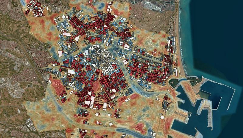 Vista de zonas afectadas