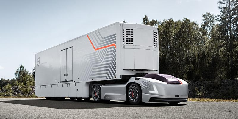 Así será el vehículo eléctrico y autónomo que prepara Volvo Truck como solución de movilidad dirigida a empresas para el transporte de mercancías, entre otras operaciones.