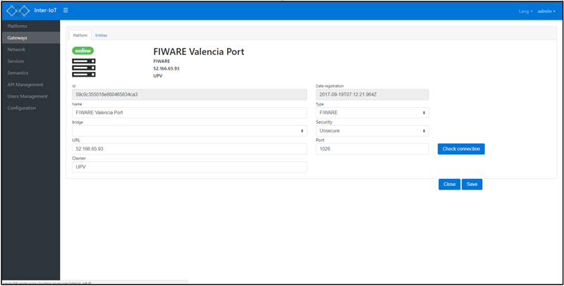 Figura 3. Interfaz de usuario de la herramienta INTER-FW.