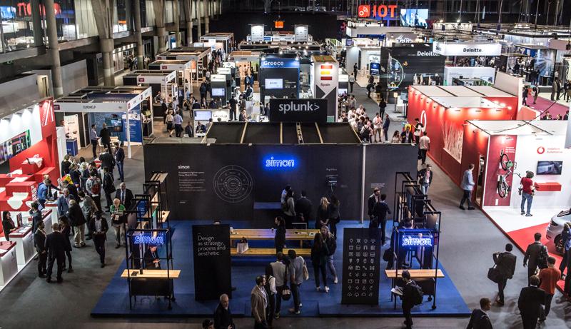 Foto del espacio expositivo del Congreso Internacional de Internet de las Cosas (IoTSWC) 2018 celebrado en Barcelona.