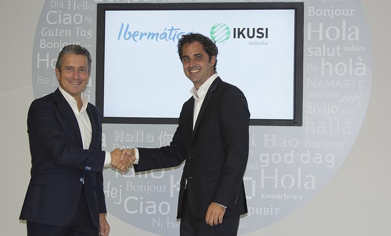 Juan Ignacio Sanz, director general y consejero delegado de Ibermática, e Iñaki Maiz, director general de Ikusi.
