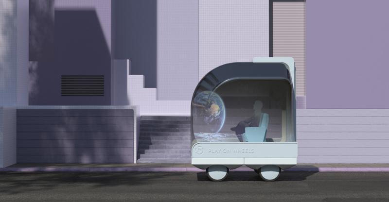 Ocupar el tiempo de los desplazamientos en ver contenidos con realidad aumentada o probar nuevos juegos es una de las propuestas de movilidad de futuro del proyecto.