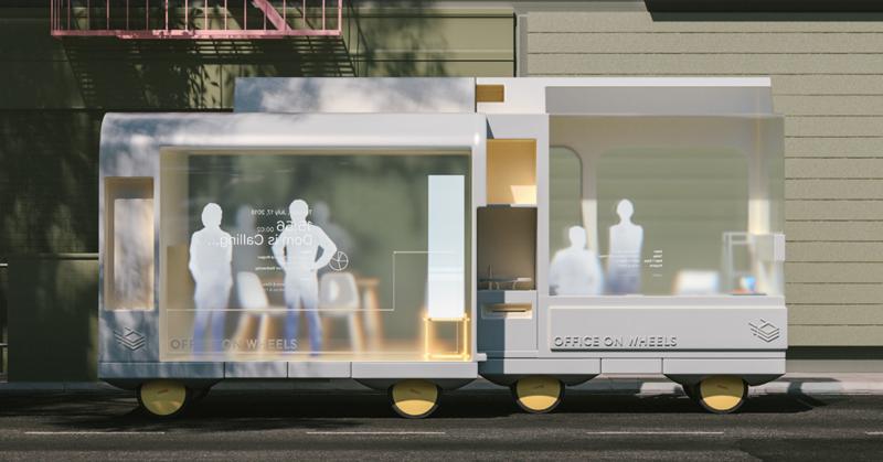 Oficina sobre ruedas es una de las propuestas de este proyecto sobre movilidad del futuro.