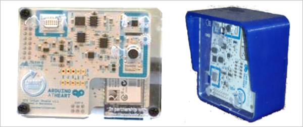Dispositivos SCK (Smart Citizen Kit), basados en Arduino, utilizados en el servicio de monitorización ambiental de la plataforma Smart CEI Moncloa.