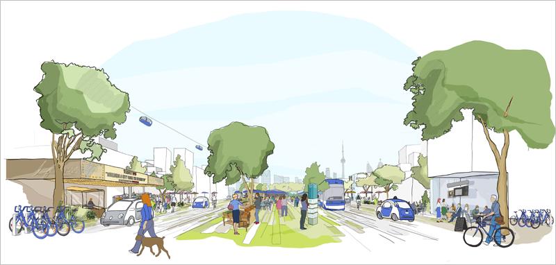 Uno de los pilares del distrito inteligente es su capacidad para proporcionar un sistema de transporte público multimodal, asequible y sostenible.