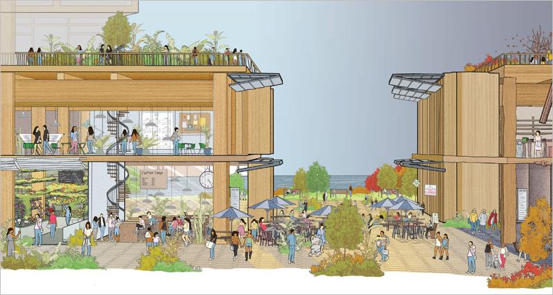 Además de proveer al distrito de viviendas asequibles y altos estándares de sostenibilidad, el proyecto quiere revitalizar la economía de esta parte de la ciudad a orillas del lago Ontario.