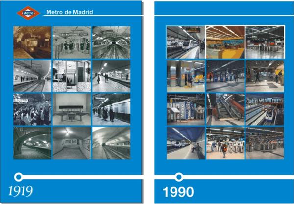 Figura 1. Imágenes descriptivas del Metro en sus inicios y en la década de los 90.