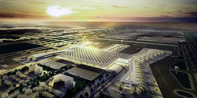 Maqueta del nuevo aeropuerto de Estambul en el que ya funciona una de sus terminales, donde Ikusi ha desarrollado su sistema de información y publicidad.