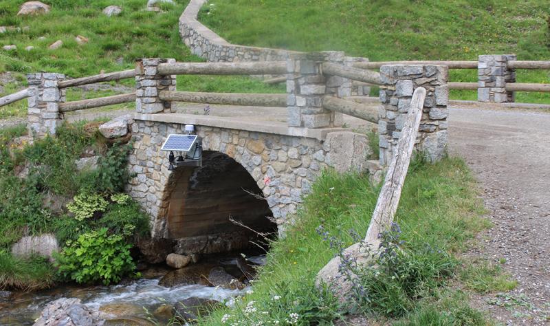 Uno de los puentes en Andorra donde se ha instalado una estación de monitorización basada en IoT para detectar cambios en el caudal del agua y advertir del riesgo de inundaciones.