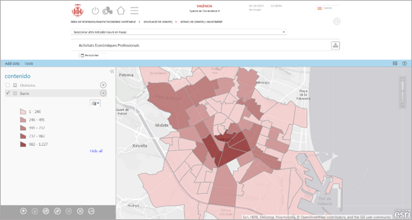 Figura 3. Interfaz Mapas Cuadro Mando de Ciudad
