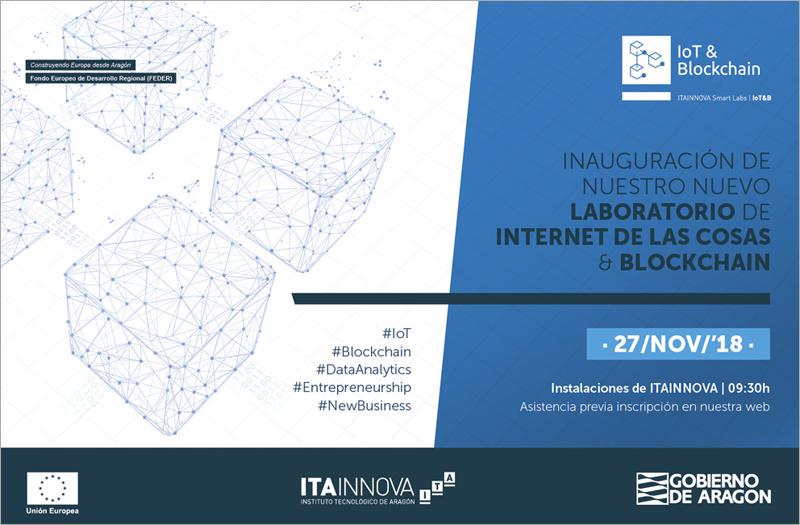 Este martes da comienzo la andadura del Laboratorio de Internet de las Cosas (IoT) y Blockchain del Instituto Tecnológico de Aragón, Itainnova, con una jornada sobre la aplicación de la tecnología de cadena de bloques.