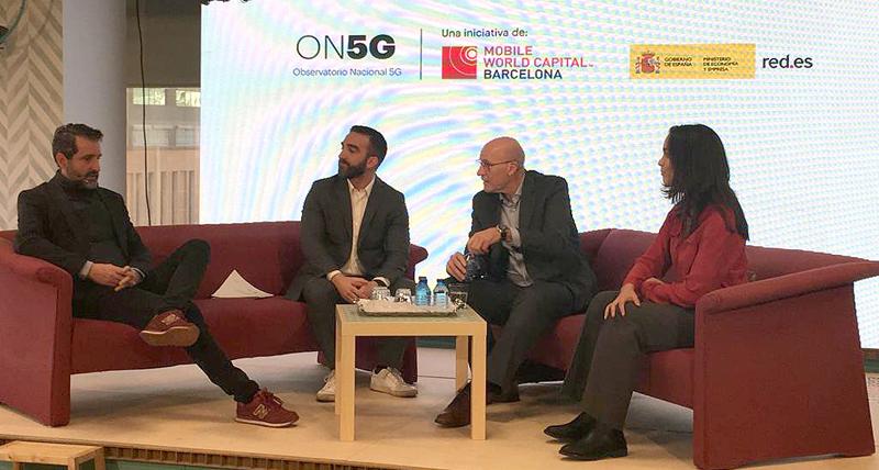 Acto de presentación del Observatorio Nacional de 5G celebrado en la sede de Red.es, en Madrid.