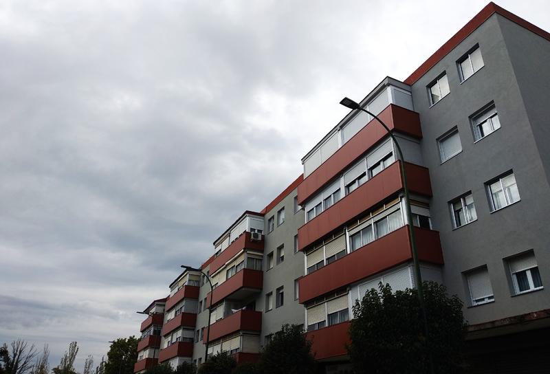 Conjunto de edificios del barrio de grupo FASA en Valladolid sobre los que el proyecto europeo de ciudad inteligente Remourban ha llevado a cabo trabajos de rehabilitación energética.