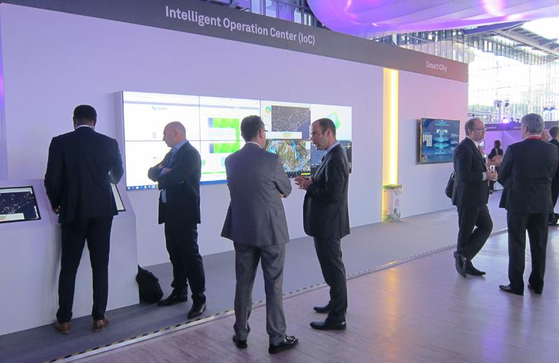 Una muestra del cuadro de mandos que los gestores públicos pueden ver a través del centro de operaciones inteligente.