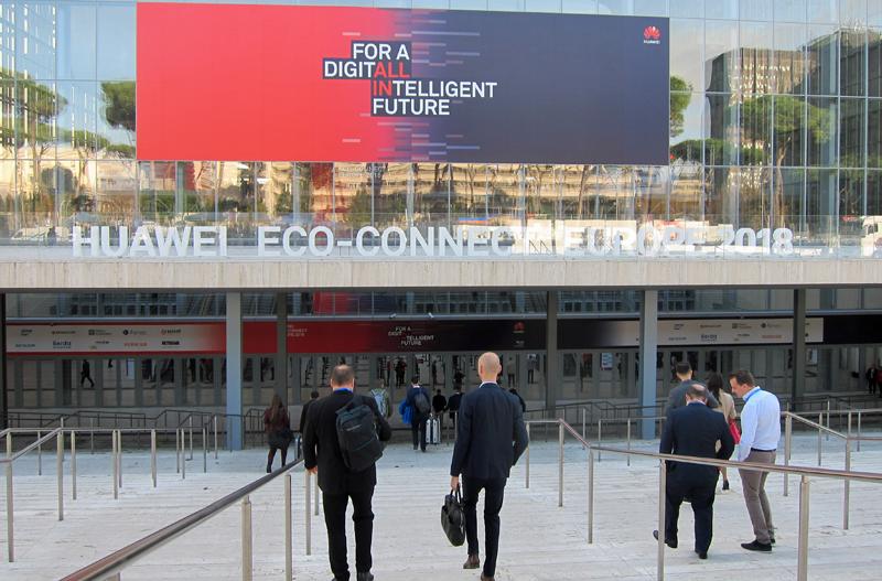 El centro de convenciones La Nuvola de Roma acogió el Huawei Eco-Connect Europe 2018.
