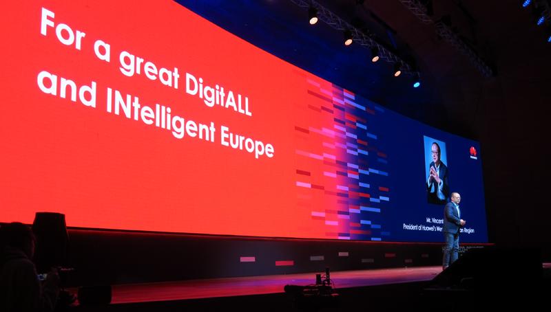 Huawei quiso mostrar su potencial en materia de conectividad, industria 4.0 y ciudades inteligentes.