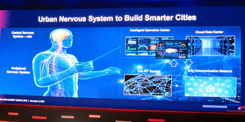 """Presentaron su concepto de ciudad inteligente basado en tecnologías y soluciones que funcionan como un """"sistema nervioso urbano""""."""