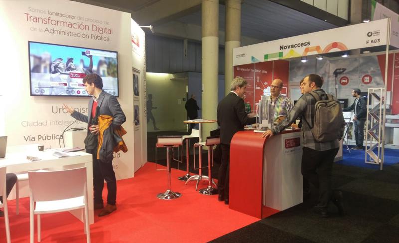 Stand de la compañía Berger-Levrault, especializada en soluciones para administraciones públicas.