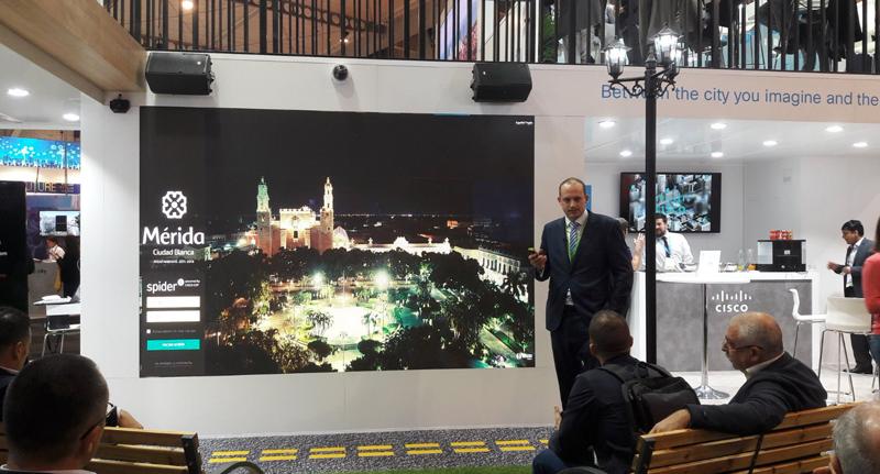 Ikusi ofreció una ponencia sobre una de las aplicaciones de su plataforma de ciudad Spider en Mérida (México).
