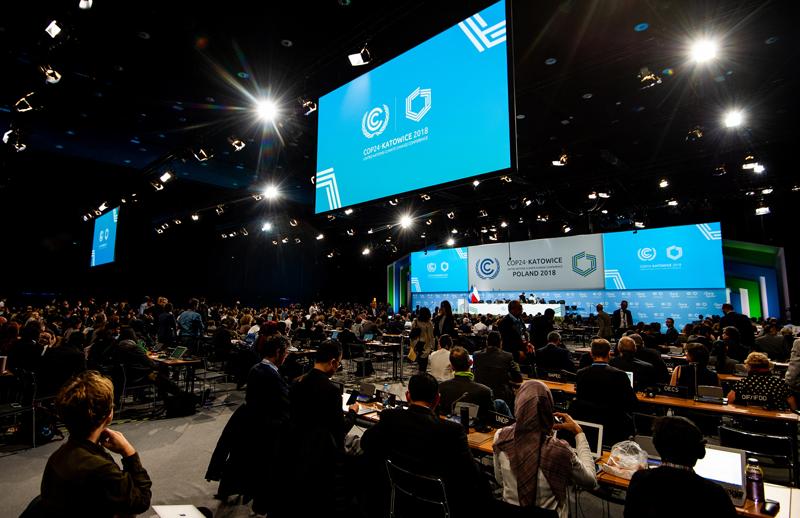 Una de las sesiones de la negociación en la COP24.