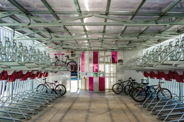 Figura 3. Vista interior del sistema de aparcamiento inteligente de bicicletas.