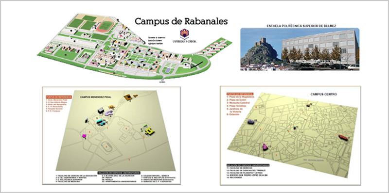 Figura 1. Edificios de Campus en la Universidad de Córdoba.
