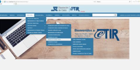 eTIR: Sistema de gestión de tributos, ingresos y recaudación