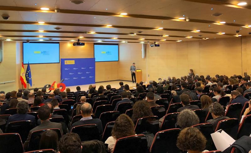 El ministro de Ciencia, Pedro Duque, en un momento de la presentación del Proyecto Cervera.