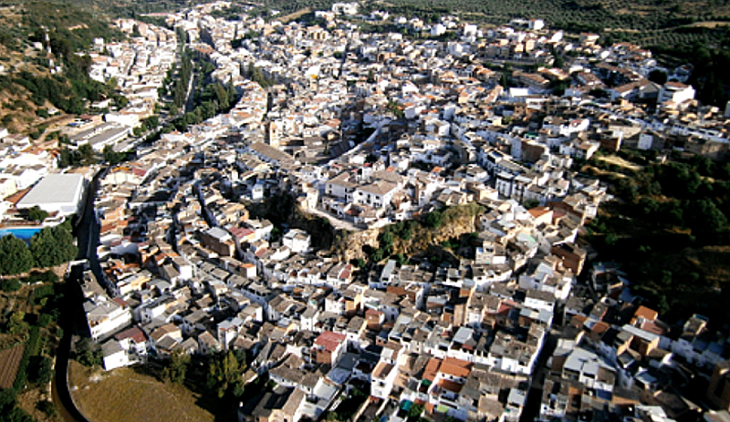 Vista aérea del municipio de Beas de Segura, en la provincia de Jaén.