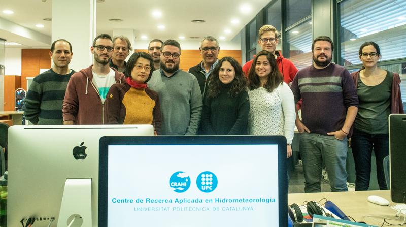 Equipo del Centro de Investigación Aplicada en Hidrometeorología (CRAHI) de la Universidad Politécnica de Cataluña (UPC) que coordina el proyecto Anywhere.