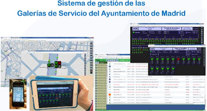 Figura 6. Sistema de gestión de las galerías de servicio del Ayto. de Madrid.