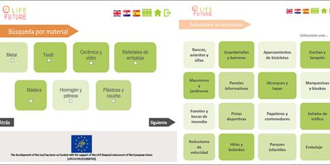 Life Future: Herramienta online para la selección y evaluación de criterios medioambientales en la compra pública de mobiliario urbano