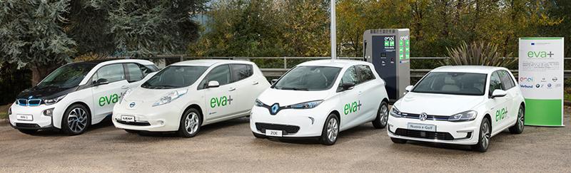 Estación de recarga de Proyecto EVA+. Esta red se basará en cargadores multi-estándar e incluirá soluciones innovadoras de TIC para proporcionar un fácil acceso y servicio a todos los vehículos y clientes.