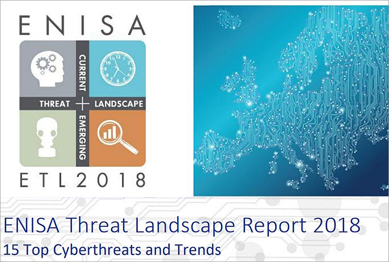 Portada del informe elaborado por la Agencia Europea de Seguridad de las Redes y de la Información (Enisa) sobre ciberamenazas y tendencias en el marco de la Unión Europea.