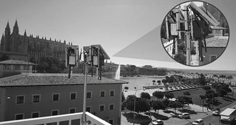Figura 2. Sensor Ambiental IoT instalado en Sede Autoridad Portuaria de Palma.
