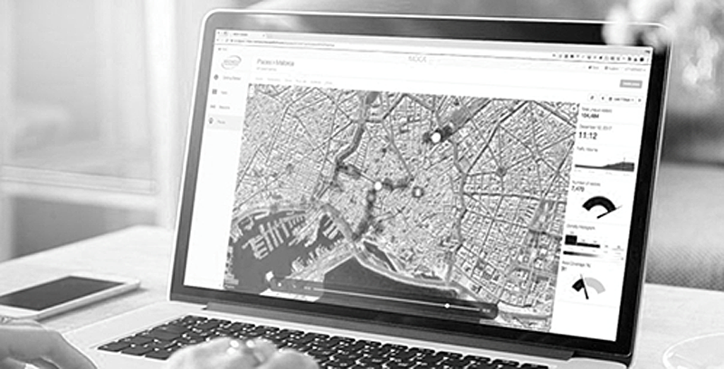 Figura 3. Dashboard Mapa de Calor Usuarios Geolocalizados de Palma en Tiempo Real.