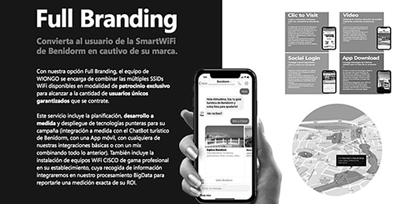 Figura 5. Patrocinio Full Branding SmartWiFi en ChatBot turístico de Benidorm.