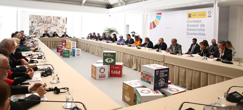 El Consejo de Desarrollo Sostenible es uno de los órganos de gobernanza para la implementación de la Agenda 2030, basada en los 17 Objetivos de Desarrollo Sostenible de Naciones Unidas. Foto: Moncloa / Fernando Calvo.