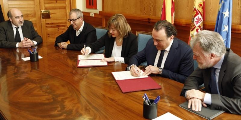 Convenio de colaboración entre el Gobierno de Aragón y el Colegio Oficial de Graduados e Ingenieros Técnicos de Telecomunicaciones.