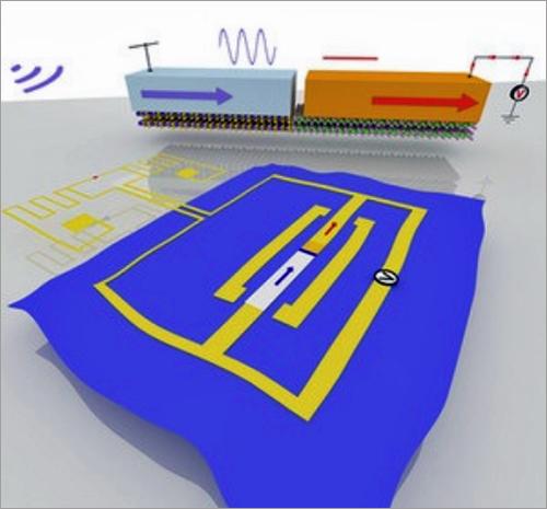 Esquema de la nueva rectena de la antena que convierte las ondas electromagnéticas en electricidad.