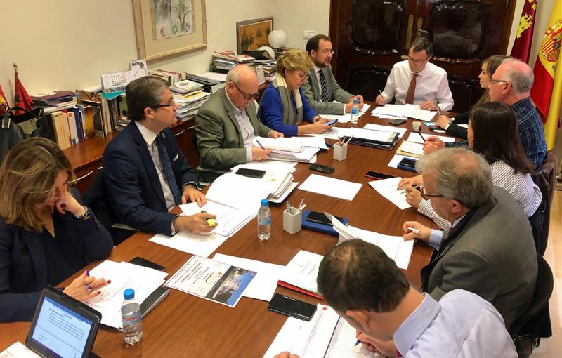 Junta de Gobierno del Ayuntamiento de Murcia en la que se aprobó el pliego de condiciones para la licitación del sistema de control de la ciudad.